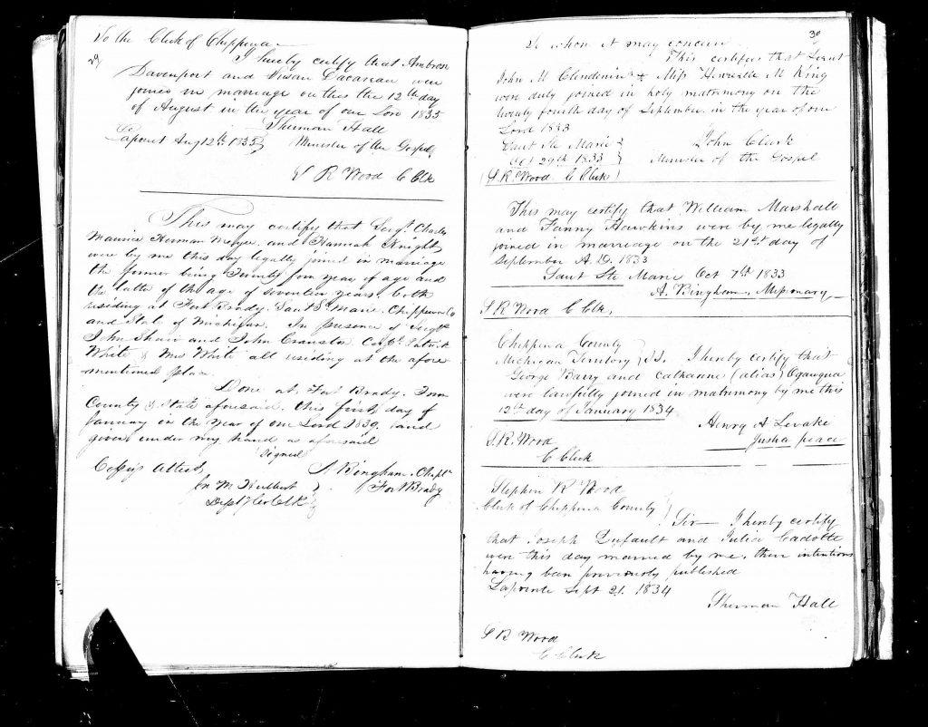 Nineteenth-century marriage licence
